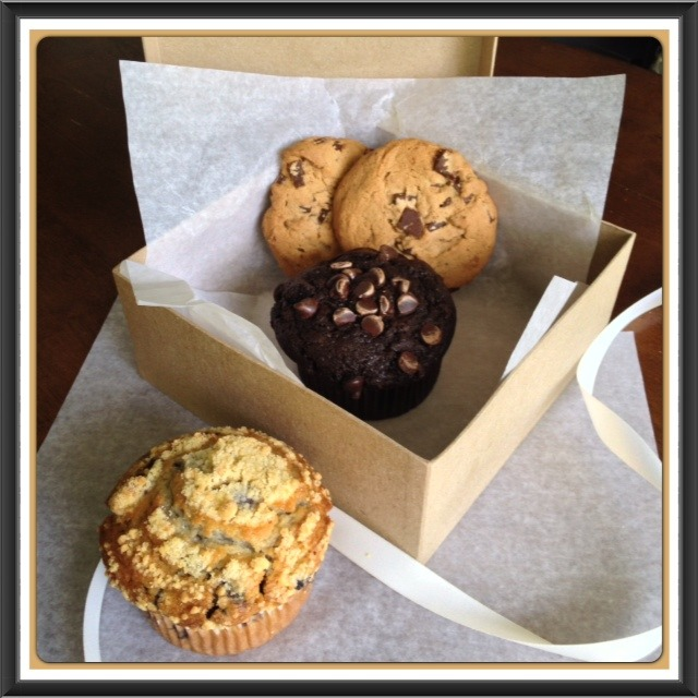 Assorted Treats, Muffins and Chocolate Chunk Cookies
