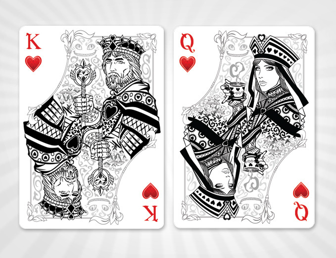 alice of wonderland playing cards gold silver editions by juan solorzano kickstarter. Black Bedroom Furniture Sets. Home Design Ideas