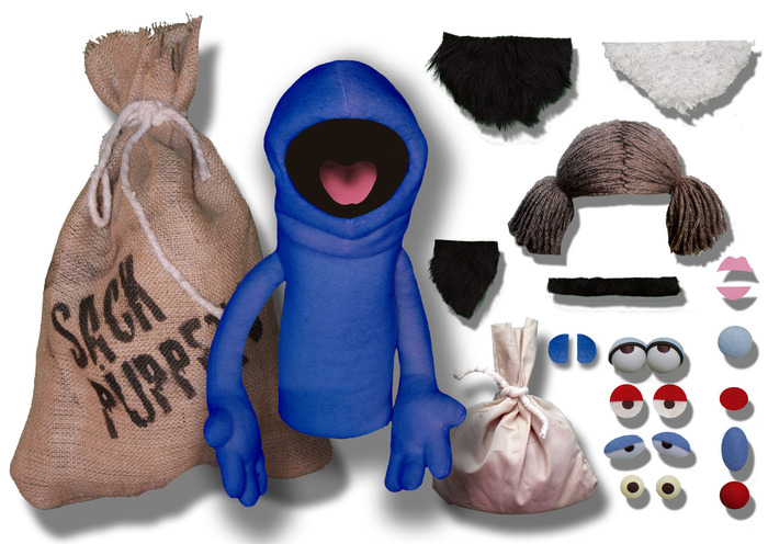 BLUE SACK PUPPET