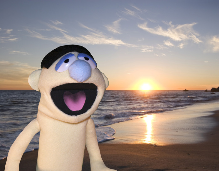 Put your puppet in front of a green screen and they can travel the world!