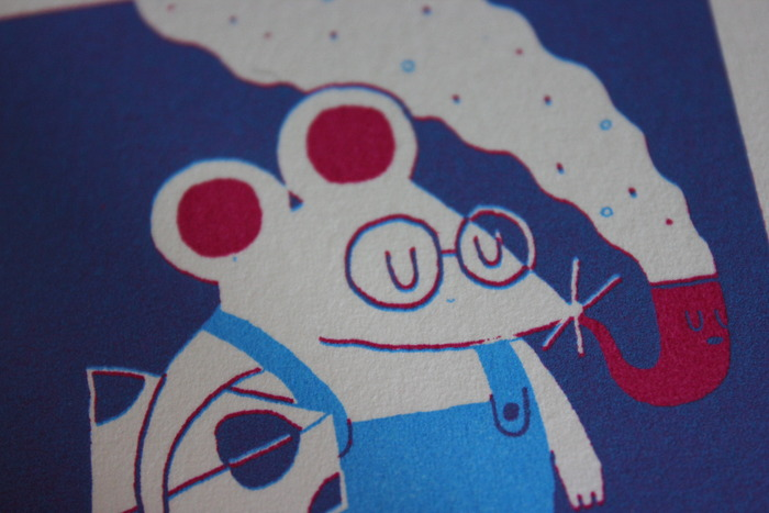 Detail of the Vincy Cheung 'Never Ending Story' print.