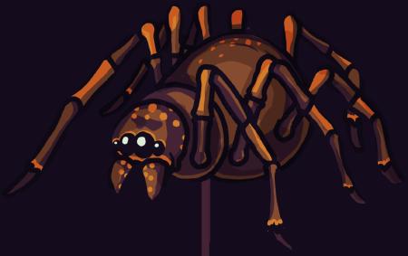 Crypt Run giant spider
