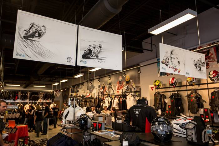 Dainese MotoGP legends greet you at the Chicago D-Store