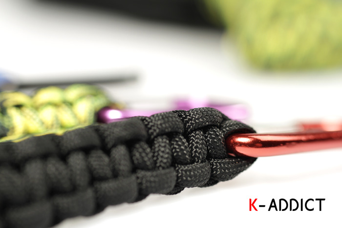 Handmade K-Addict cobra 3ft paracord keychains.