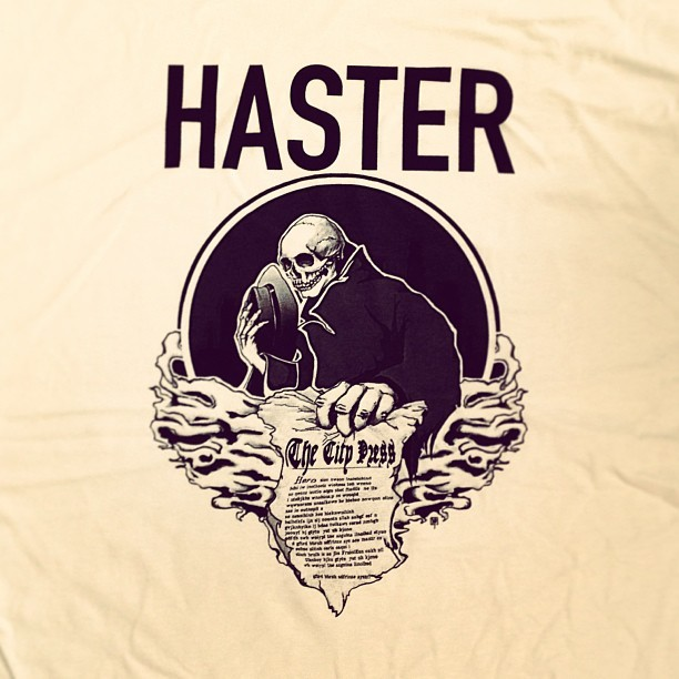 New HASTER Deluxe White T-Shirt Design
