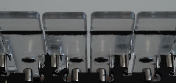 Detail of magnets under keys