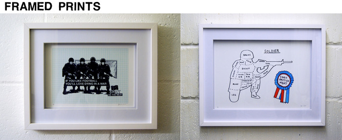 Frames available for all prints. A2 & A3 sizes.
