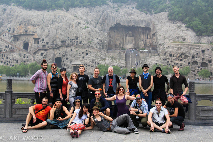 MarchFourth at the Longmen Grottoes UNESCO World Heritage Site