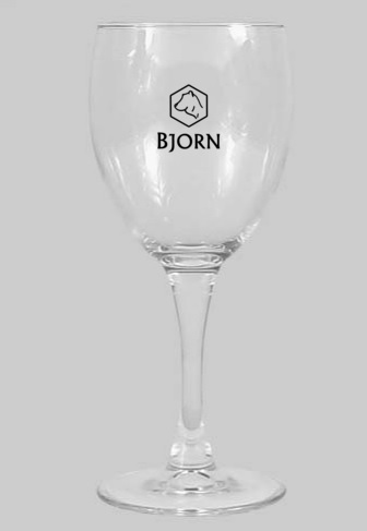 Personalized Wine Glass by Bjorn Mead