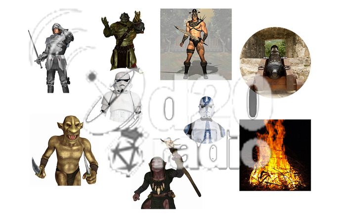 Some of the Tokens from d20Radio for your Roll20 campaign