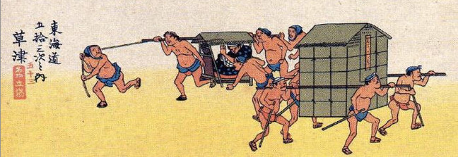 The people wearing Fundoshi, appeared in historical Japanese prints