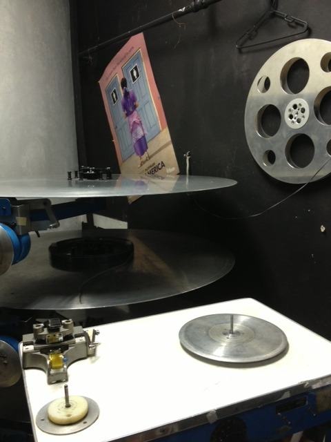 Platters where the 35mm film is put together