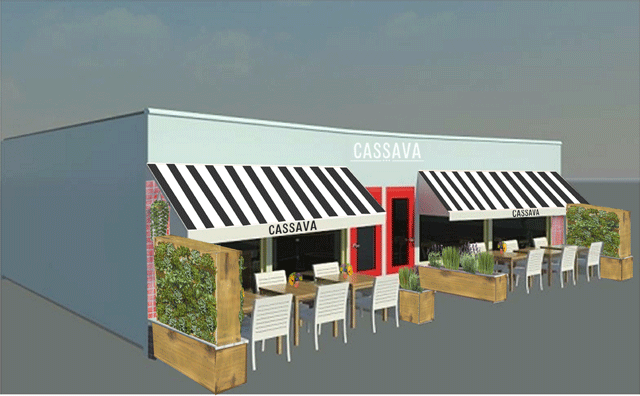 Concept rendering of the outdoor patio
