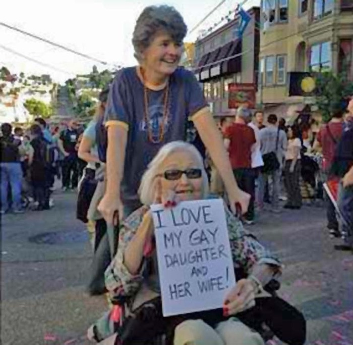 Ann & daughter Robin celebrate in the Castro.
