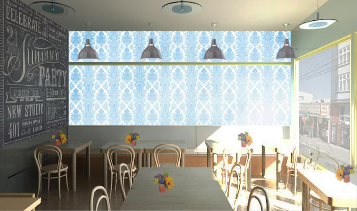 A rendering of our new dining room