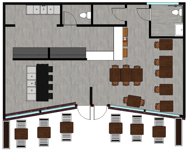 The expansion will triple our seating size!