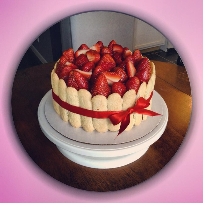 Vegan Strawberry Charlotte Cake, Great Summer Treat!