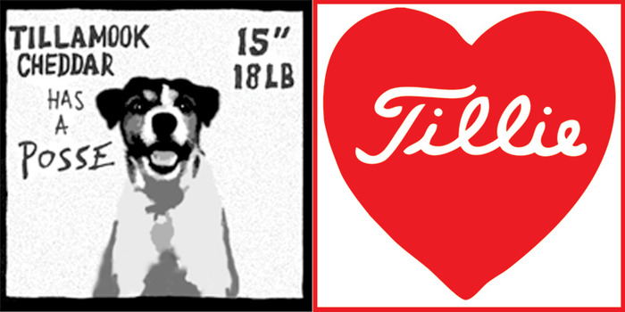 "One 2.75"" square ""Posse"" sticker + one die-cut Tillie Heart sticker"