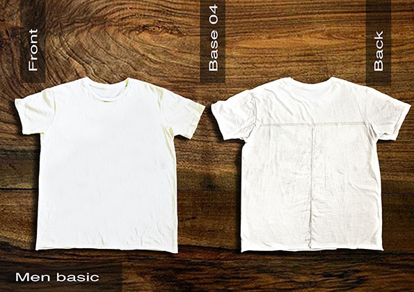 Mens Basic Plain Tee Shirt (Front & Back)