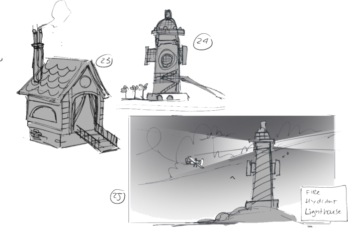 Some of the setting designs.