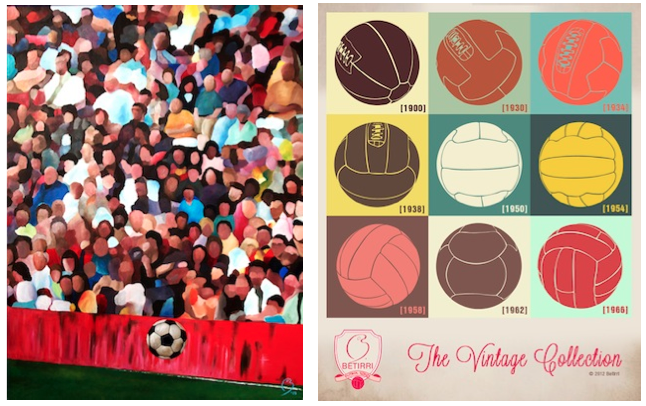 "$500 or more: THE SPECTACLE 36 x 48 Limited Edition Print on Canvas + ""Evolution of the Ball"" poster designed by the Artist Betirri"