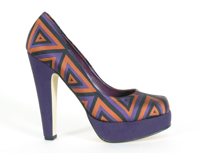 Rosa - purple and orange geometric print