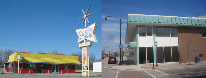 Chouteau, OK (Left): Arlington Heights, IL (Right)