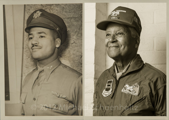 Col. Charles McGee. Tuskegee Airman who fought in Italy, Korea and Vietnam. Image by Mike Schoenholtz.