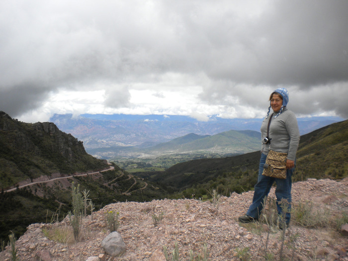 Carmen Valdivieso Hulbert during the scouting in the Ayacucho region 2010.