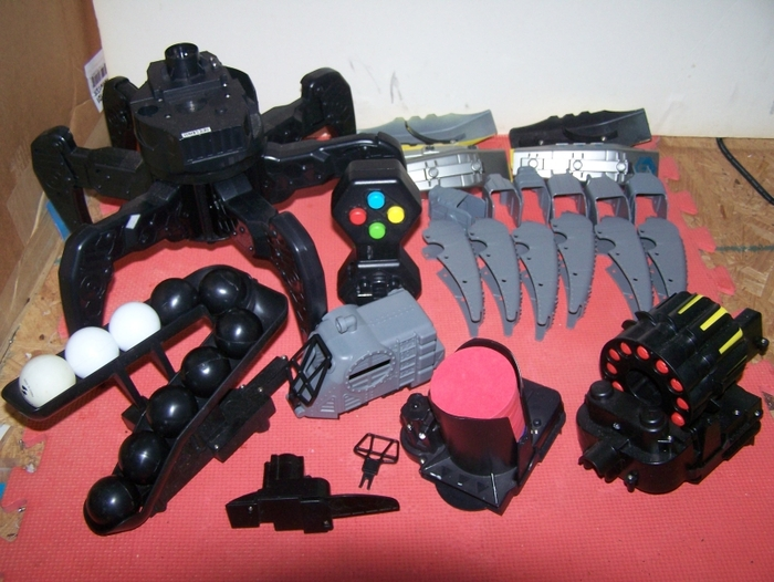 Deluxe Kit!  Includes 3 blasters!  Darts, Discs, and balls!  Equipped for anything!  Blasters change out in seconds!