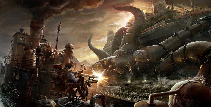 """""""Steampunk Octopus"""" by Alex Broeckel"""