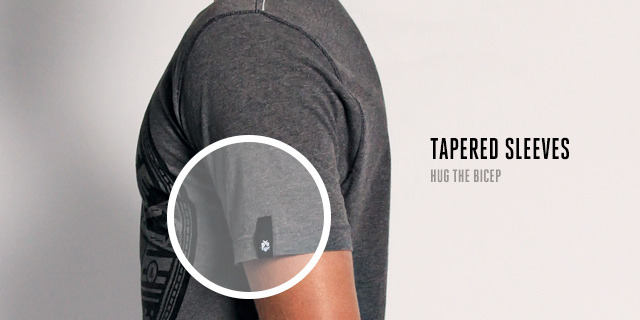 Classic Cut - Slightly tapered sleeves hug the bicep