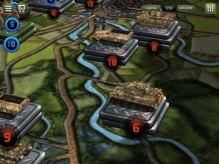 German defensive position on the Odon River - Normandy 1944