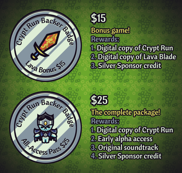 Crypt Run silver rewards