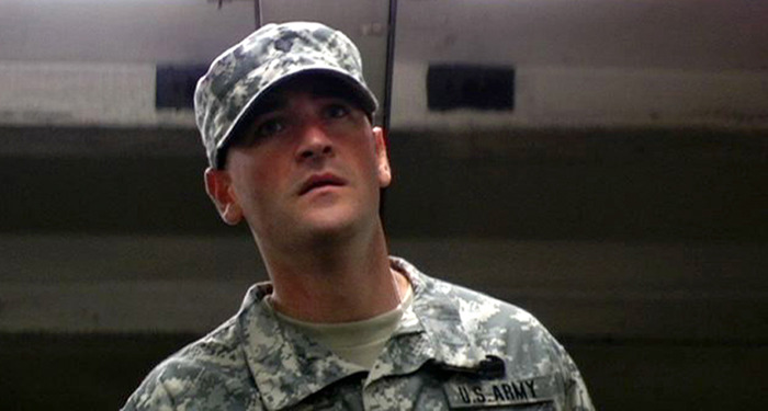 "Christopher Martini as Specialist Murphy O'Shea in ""Trooper"""