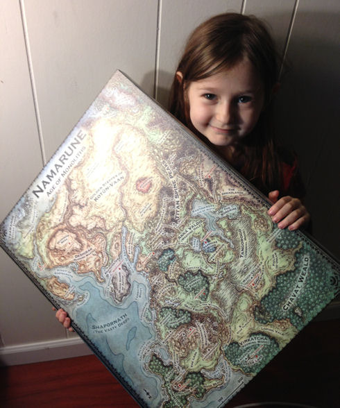 Gallery Wrap Canvas Map (child not included)