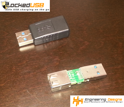LockedUSB Adapter Prototype - Charger Firewall