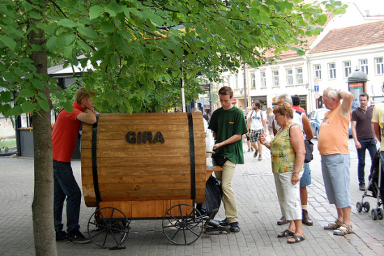 Kvass street vendors are a common sight in Poland and other parts of Eastern Europe