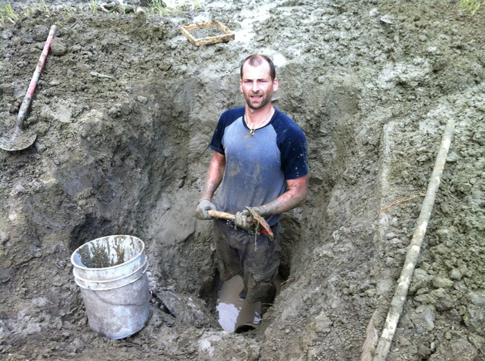 Me in Arkansas digging an 8 foot deep hole