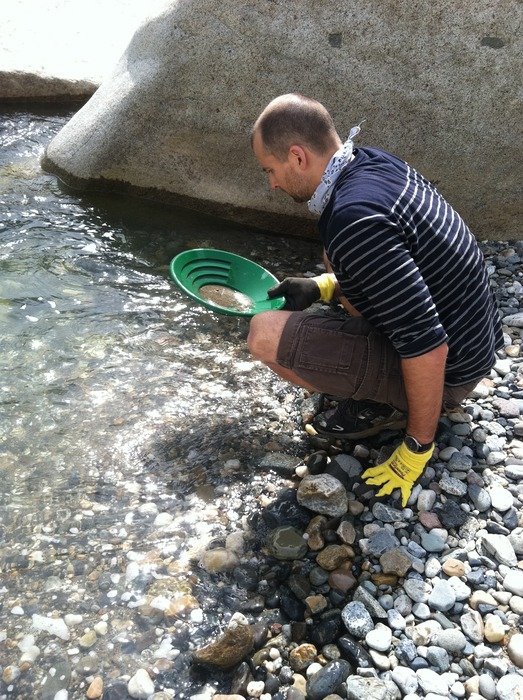Panning on the South Yuba river