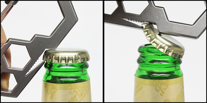 Ti2 Para-Biner PB-7 -- Bottle Opener in Action :)