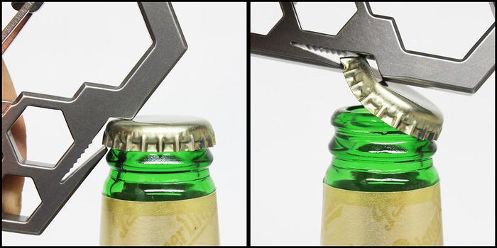 Ti2 Para-Biner PB-7 -- Bottle Opener in Action :)