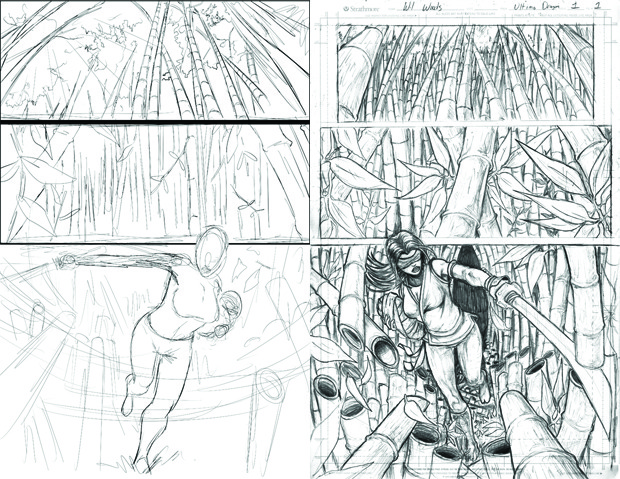 Musetap Art Studios' Sketch and Clean Up of the FIRST Page!