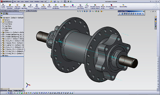 Rear Hub CAD drawing
