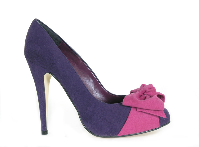 Tulip - purple faux suede