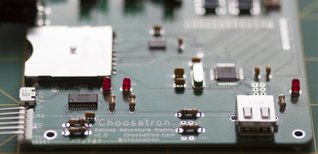 First Choosatron Circuit Board Prototype