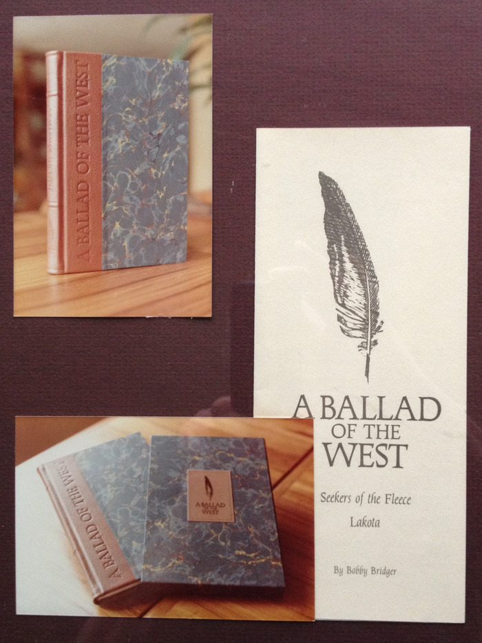 "Very Rare Collector's Edition hardback ""A Ballad Of The West"" - #109 of 250, 1 of 2 remaining in Bobby's personal collection!  c.1982"