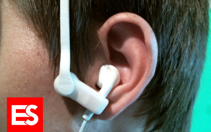 The Ear Secure device does not change the way your earbud sits in your ear.