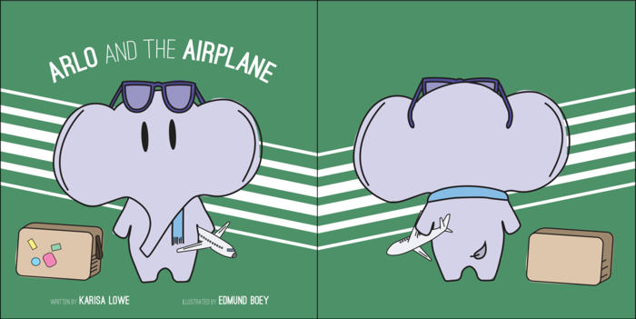 Arlo and the Airplane, front and back covers