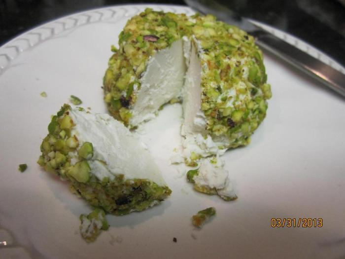 Pistachio crusted chevre